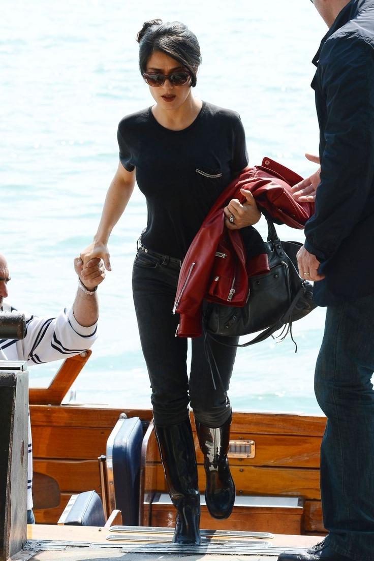 Salma Hayek visits the Biennale in Venice, May 2013.