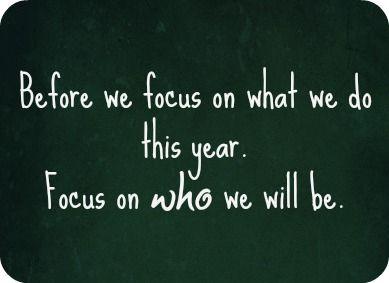 It's more that what we do......it's who we will be that counts.