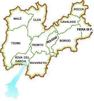 Trentino, Italy, map