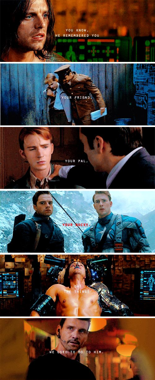 I CAN'T BELIEVE THIS IS ACTUALLY A LINE!!!!! AAAAAAAAAAAAH! BUCKY BABY! Civil War is going to break me