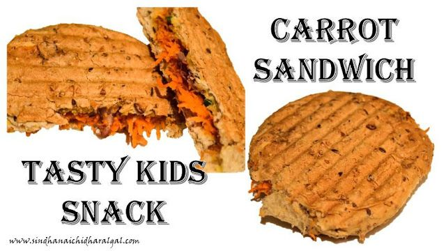 Carrot Sandwich - Kids Snack-box recipe #carrotsandwich #indiancooking #cooking #indian #snack #crunchy #evening