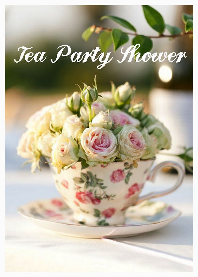 Tea Party Shower- My shower was tea party themed. I love this idea and this blog post has some cute ideas for it :)