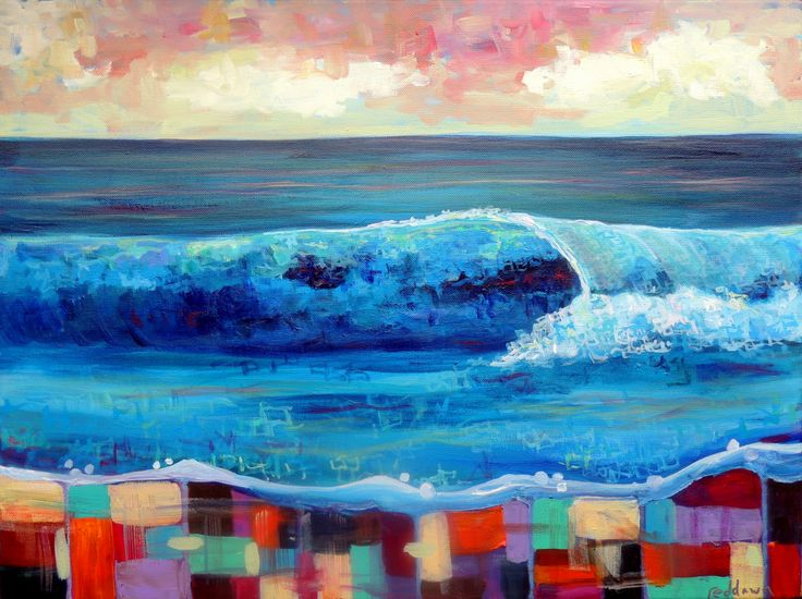 Surf Art Abstract Painting Abstract Surf Art Outer Banks