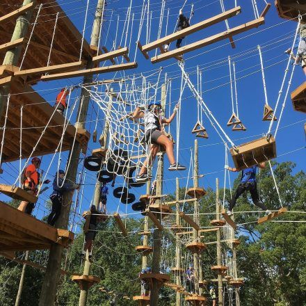 Kersey Valley High Ropes - Game & Entertainment Centers - Challenge your confidence and climb along our adventurous rope courses in the Kersey Valley High Ropes
