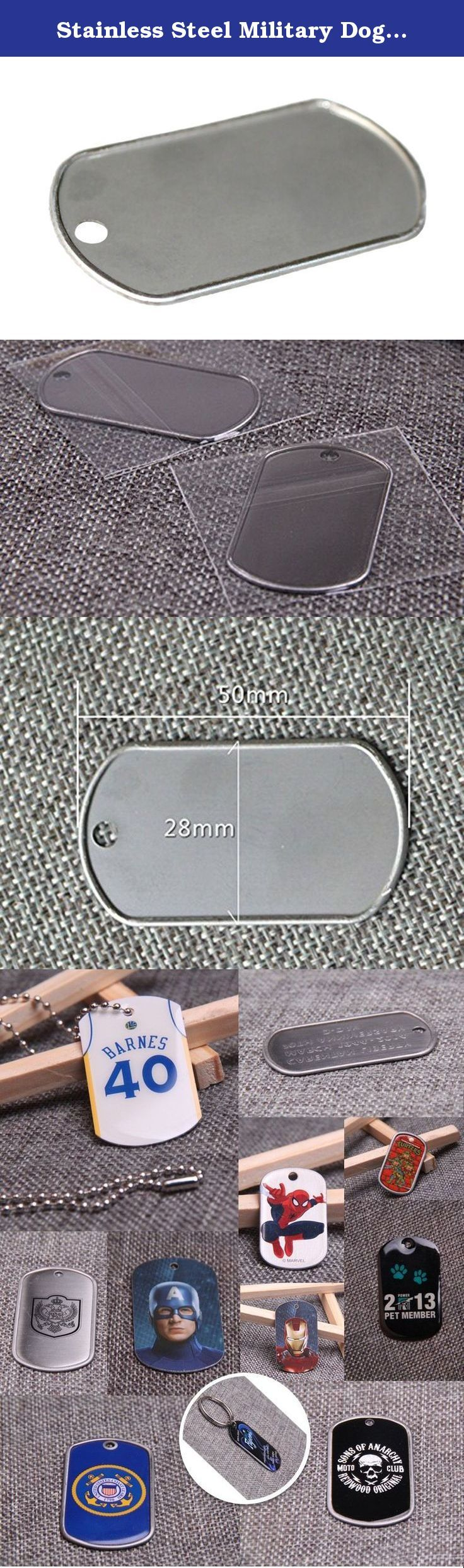 Stainless Steel Military Dog Tag Rolled Edge Blank 12pcs. Blank stainless steel dog tag, no chains included. OPP bag package.
