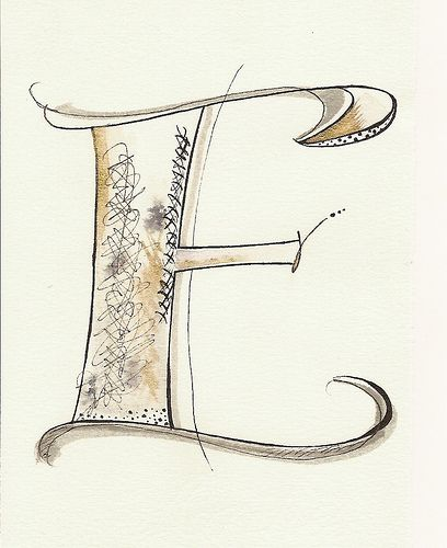 Textured Letter E by carmelscribe, via Flickr