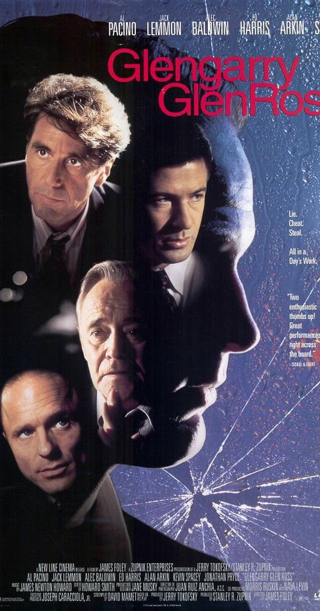 Directed by James Foley. With Al Pacino, Jack Lemmon, Alec Baldwin, Alan Arkin. An examination of the machinations behind the scenes at a real estate office.