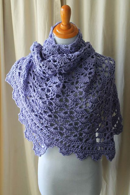 Ravelry: CorrineMB's Hannah's South Bay Shawlette (with link to the fabulous, free pattern on lionbrand.com)
