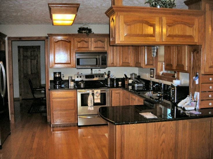 Oak cabinets, Shops and Stainless steel on Pinterest