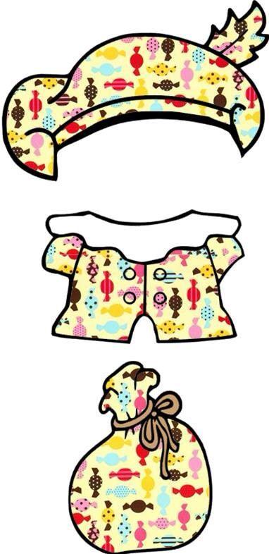 Pietenspel• Pietenspel (Zwarte Piet aankleden): pakje met snoepjespatroon •