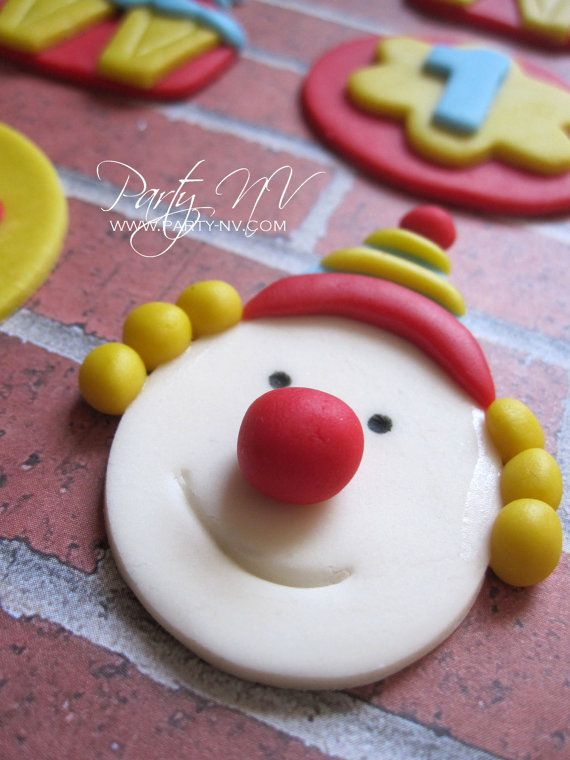 EDIBLE Fondant Cupcake Toppers  Circus by PartyNV on Etsy, $24.00