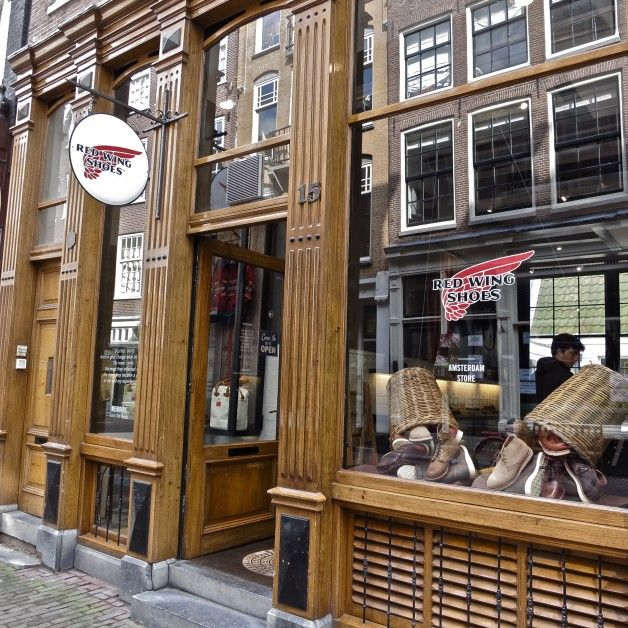Front of Red Wing Store Amsterdam