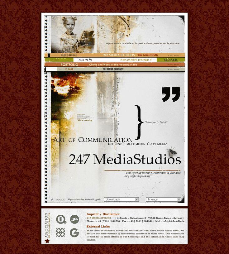 247 Media Studios website in 2003