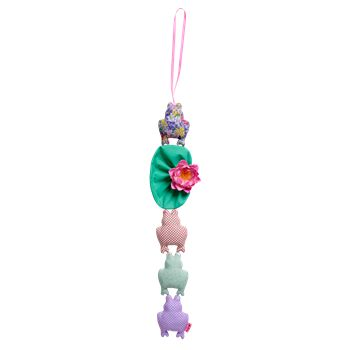 Kids Wall Hanging Frog Decoration in Girly Colors