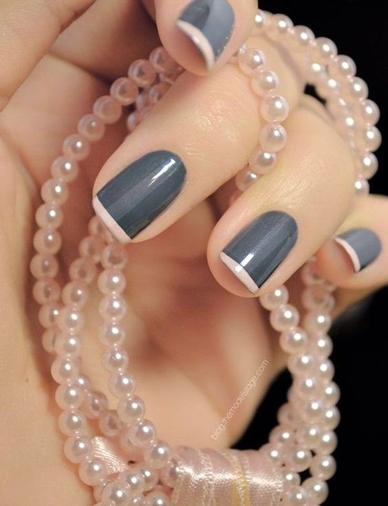 Replace your white French tips for something more exciting! Pick a dark color as a base and a lighter color for the tips or vice versa. You can't go wrong with a soft and metallic color combined! - See more at: http://www.quinceanera.com/make-up/spring-quinceanera-nail-trends/?utm_source=pinterest&utm_medium=social&utm_campaign=article-022616-make-up-spring-quinceanera-nail-trends#sthash.2Olfqim5.dpuf