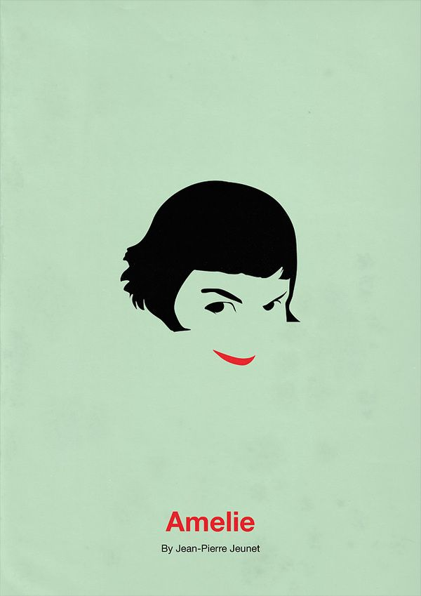 Amelie Minimalism Movie Poster. 12 Minimalist Movie Poster Designs by Eder Rengifo #minimalism #movie #posters