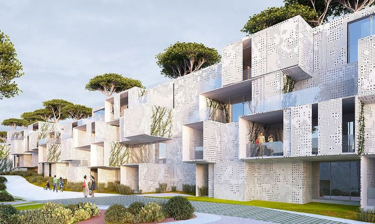 Stephane Malka's spectacular green-roofed modular Tangier Bay Housing offers enviable views of the Atlantic | Inhabitat - Green Design, Innovation, Architecture, Green Building