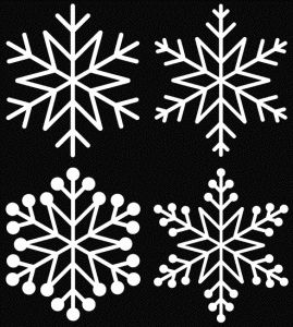 Free snowflake cutting files (5 different sets & many other Christmas cut files)