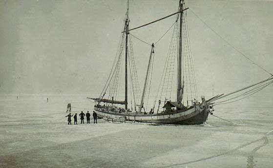 Frozen lagoon of Venice in 1929