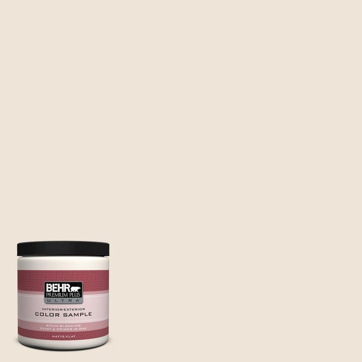 BEHR Premium Plus Ultra 8 oz. #ppl-51 Pale Chamois Flat/Matte Interior/Exterior Paint Sample