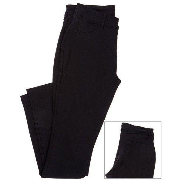 Rayon Twill Black Pants Jr Plus 287772571 | Bottoms | Junior Plus | Shop by Size | Juniors | Burlington Coat Factory featuring polyvore, fashion and clothing