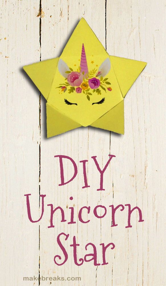 DIY Unicorn Star With Free Template Tutorial | DIY Paper Wall Art