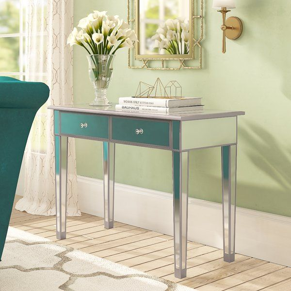 Kylie 2 Drawer Console Table Mirrored Furniture Console Table