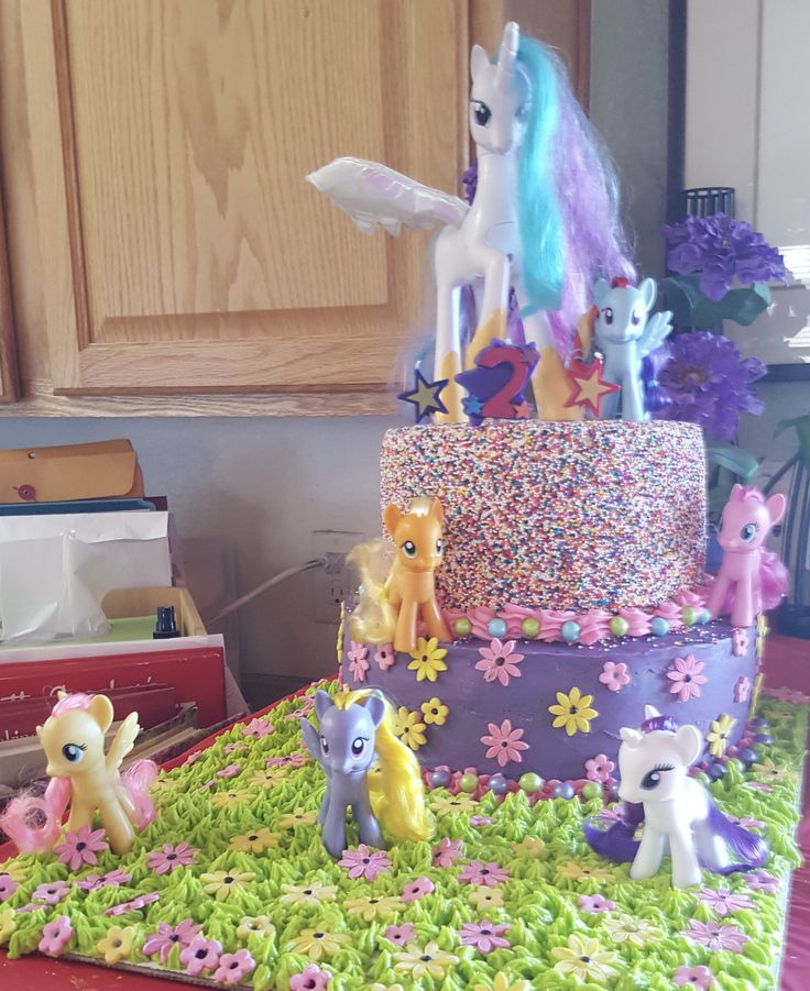 2 tiered my little pony cake