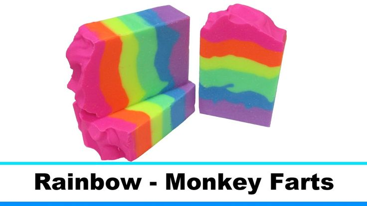 Rainbow Monkey Farts, Cold Process Soap Making and Cutting, 16th