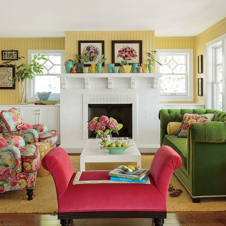 Red And Yellow Living Room Walls