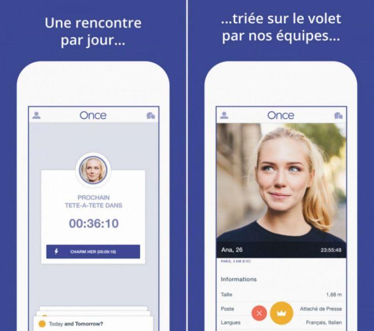 La nouvelle appli rencontre qui fait le buzz : ONCE