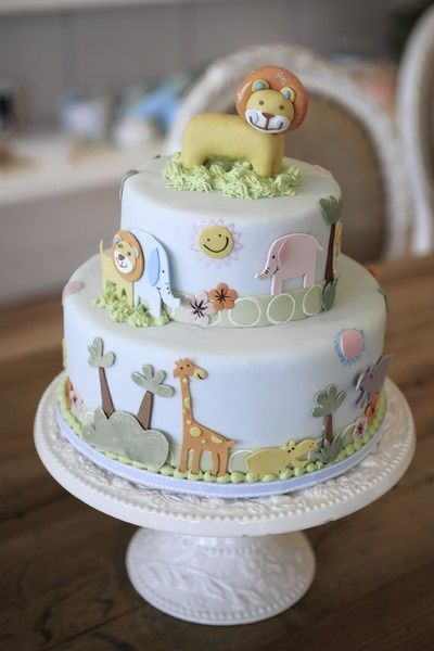 jungle themed first birthday cake, by Bobbette & Belle cake-art-gallery