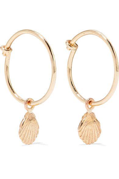 Sarah Sebastian S 9 Karat Gold Earrings