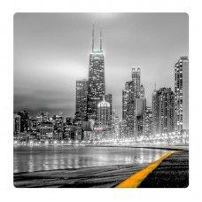 New York felhőkarcoló falikép