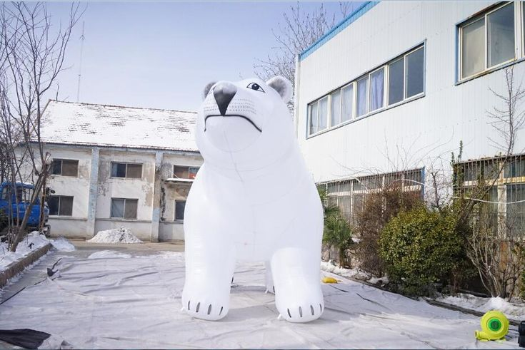 giant inflatable polar bear, inflatable white bear ,inflatable sea bear animal for Advertising