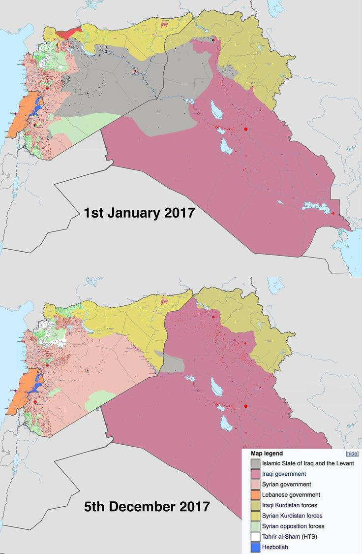 Syrian and Iraqi territory from 1st of