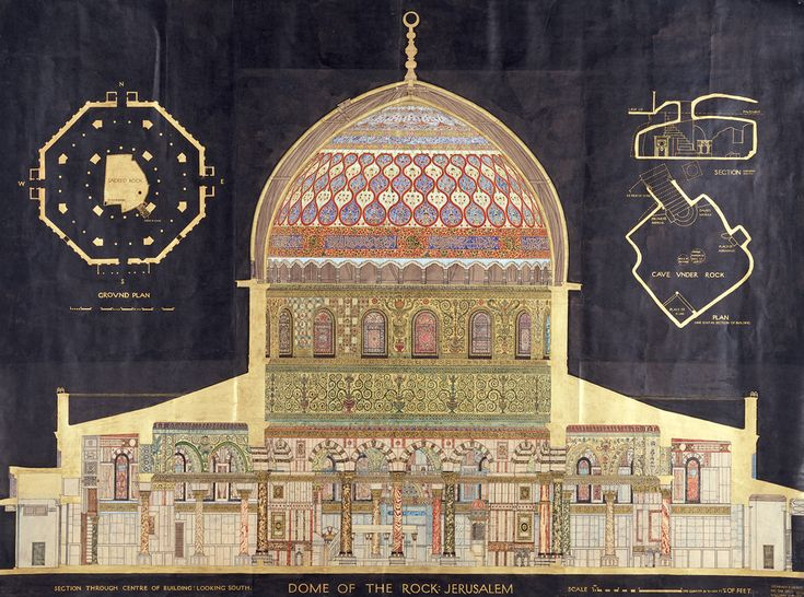 Measured drawing of the Dome of the Rock | V&A