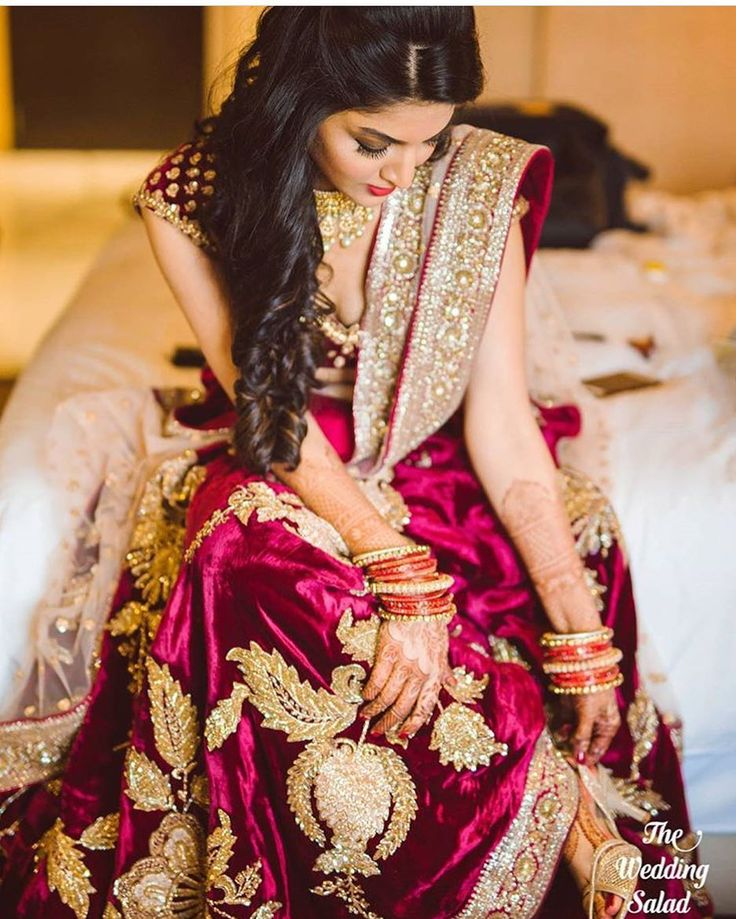 Curl your hair, adjust your heels and get ready to rock at your wedding! #TrendingBridalWear, #LehengaInspirations, #BridalWear, #ReceptionOutfits