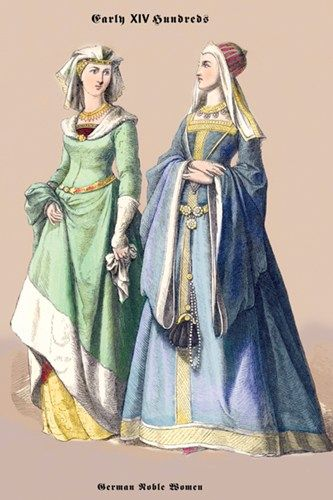 15th Century | German Noblewomen, 15th Century - Buy Cheap Fashion & Clothing Posters ...