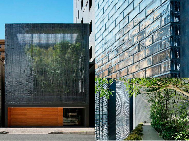 Casa de cristal en hiroshima los ladrillos macizos de - Ladrillos de cristal ...
