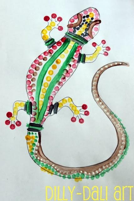 Dilly-Dali Art: Aboriginal Dot Painting