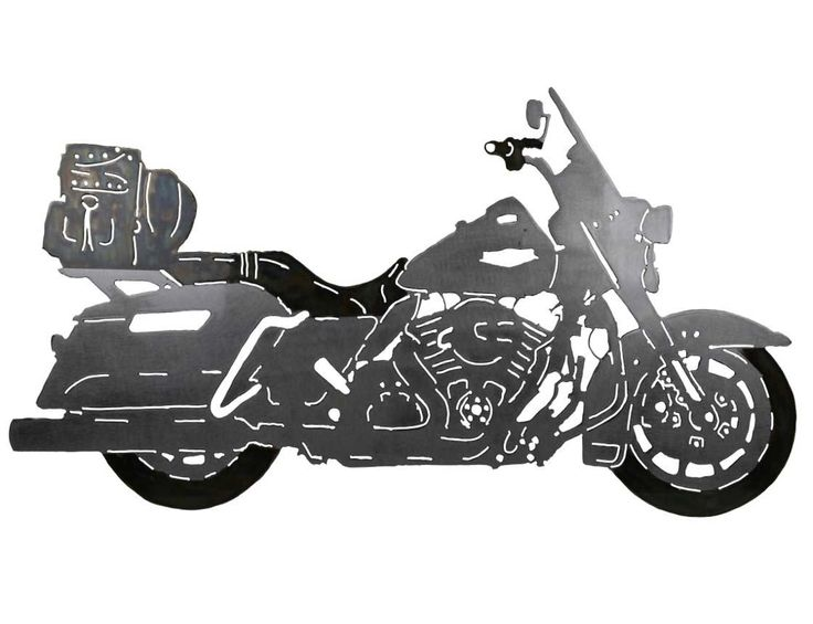 What a clever use of custom metal wall art of your motorcycle! Contact us for custom pricing.