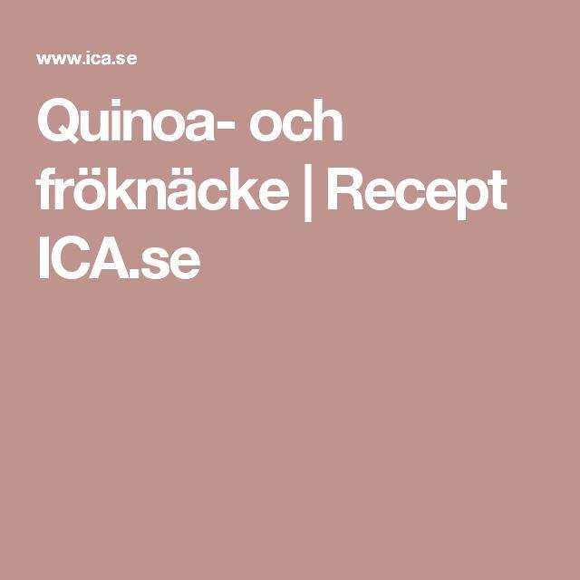 Quinoa- och fröknäcke | Recept ICA.se