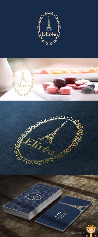 Elirée Macaroons - Logo for Sale! by OneGiraphe , via Behance