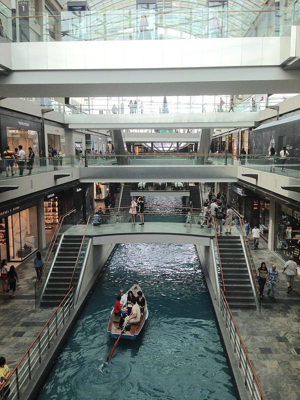 Within Marina Bay Sands, Singapore. The most high end mall I've ever been in.