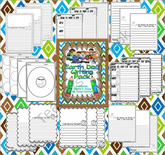 Earth Day Writing Pack from Ms Jones Junction on TeachersNotebook.com (34 pages)