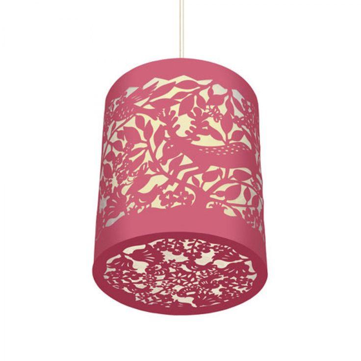 Djeco φωτιστικό οροφής 'Πουλάκια' ροζ