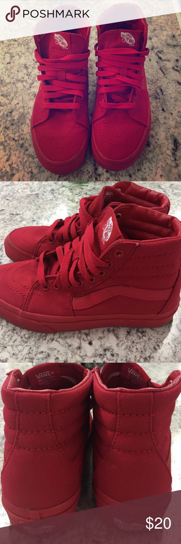 Red Vans Brand new red vans! Vans Shoes