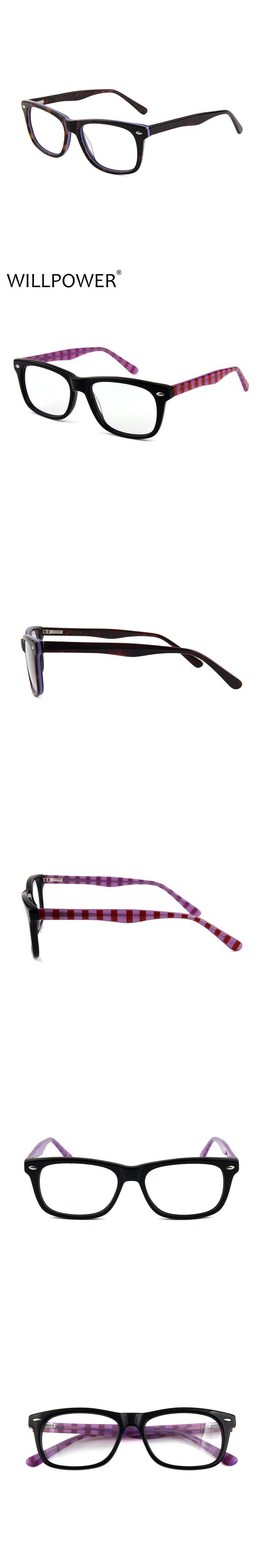 WILLPOWER Fashion Glasses Frame Women Men Eyeglasses Optical Glasses Frame Vintage Eyeglass Frames Female Fake Glasses