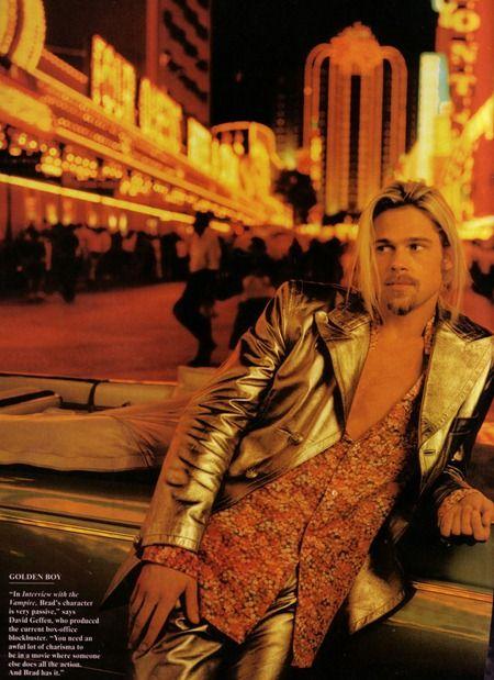 CELEBRITY STYLE REWIND Brad Pitt in Brad Attitude by Annie Leibovitz. February 1995, www.imageamplified.com, Image Amplified (1)